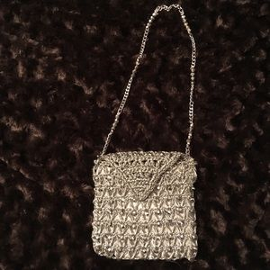 🐞Marcus brothers silver evening bag.